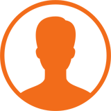orange icon of a person