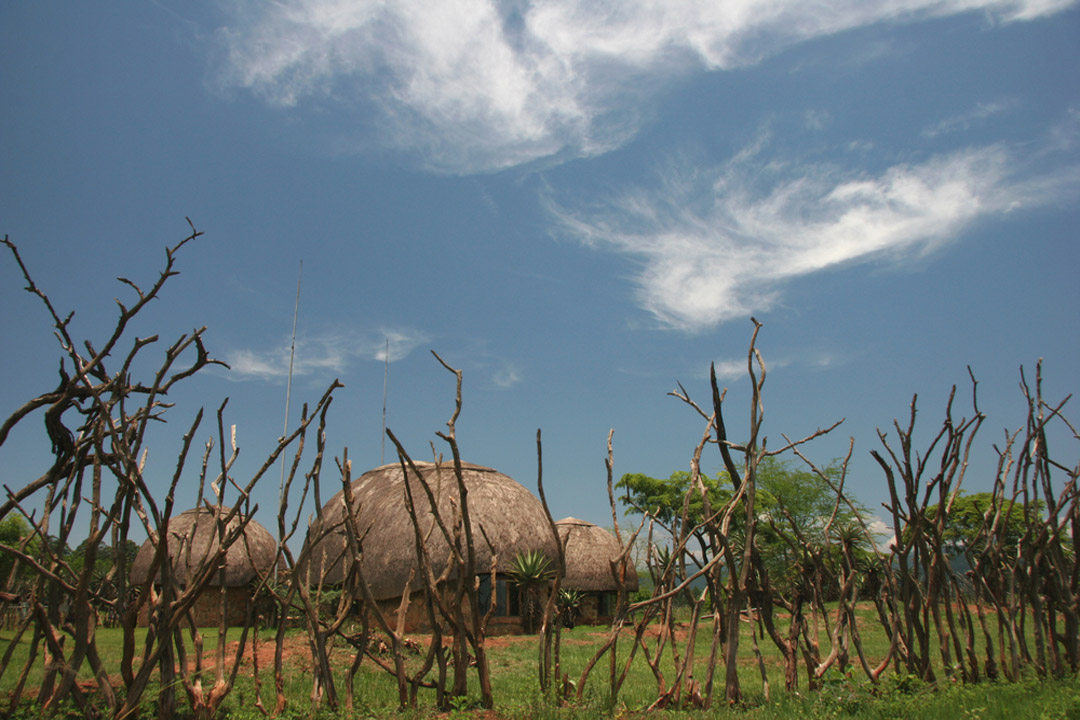 local African huts