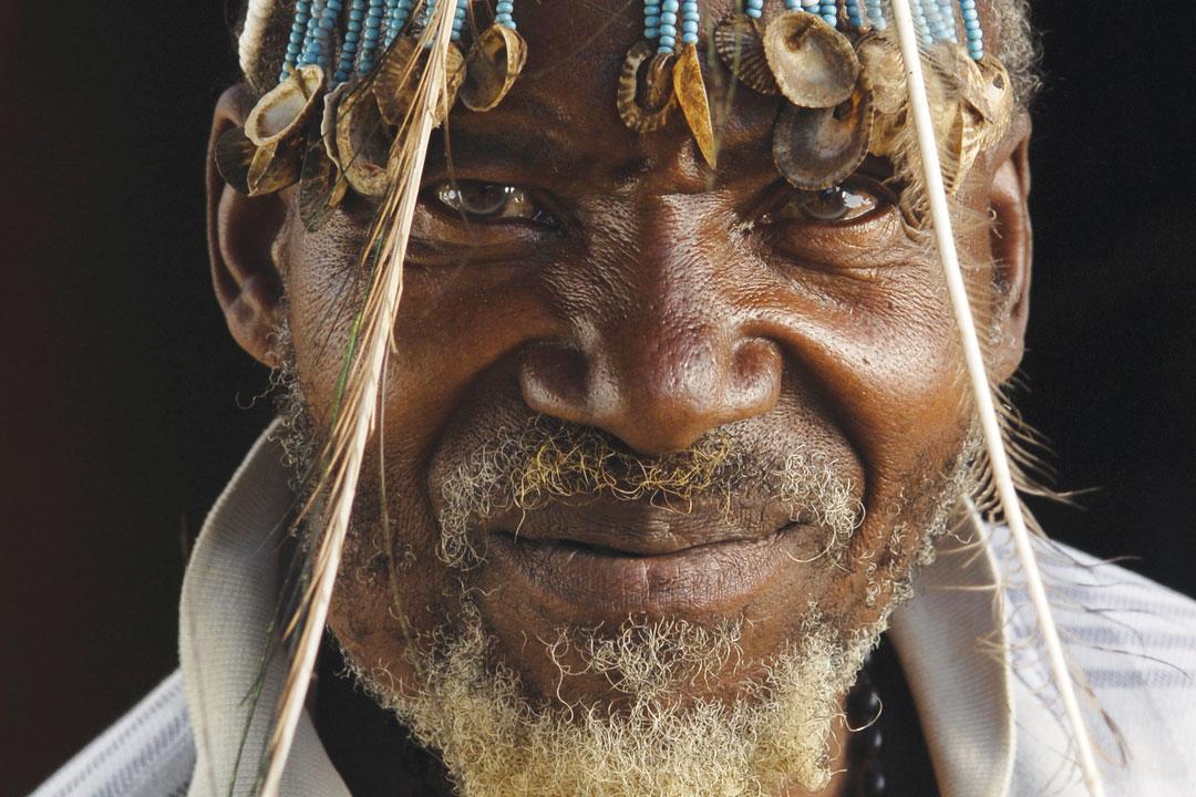 an upclose shot of a local swaziland elder