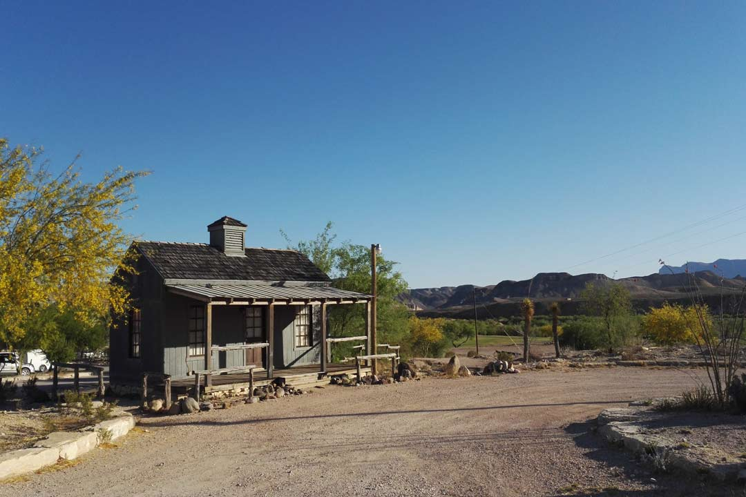 Frontier style saloons on a street in the Wild West
