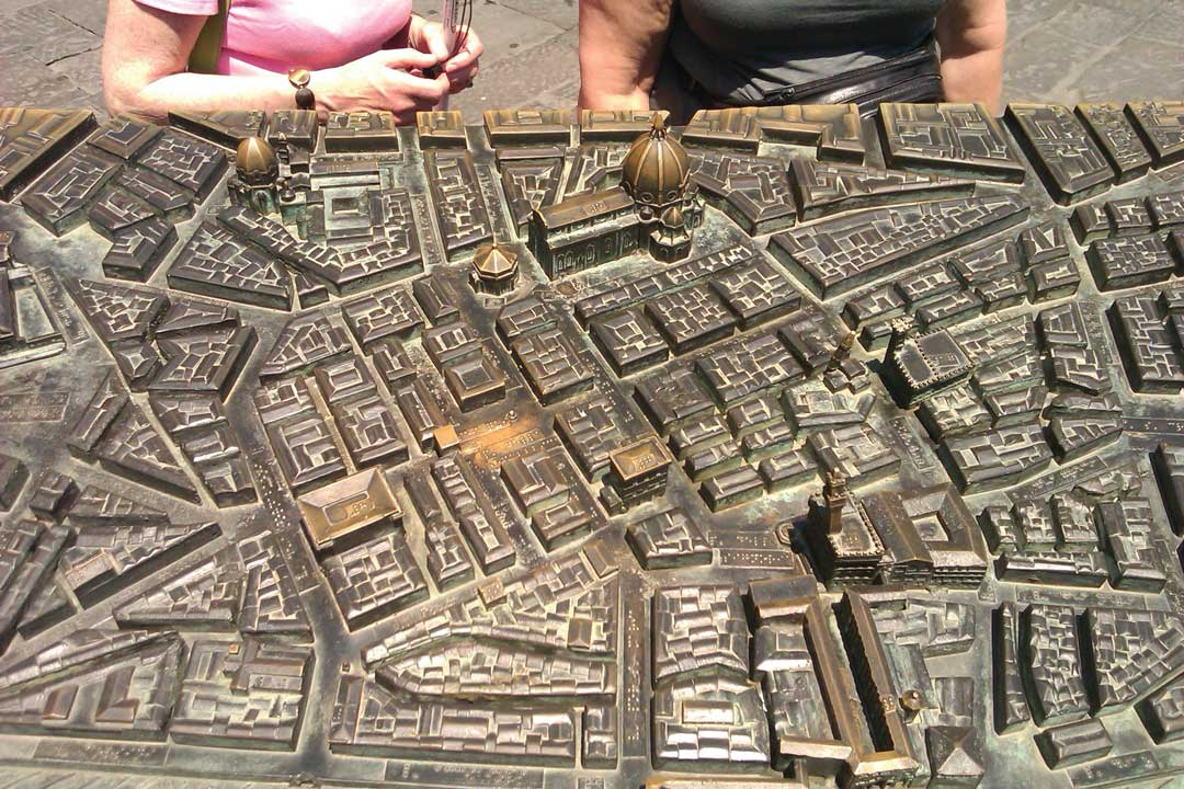 A tactile map of central Florence