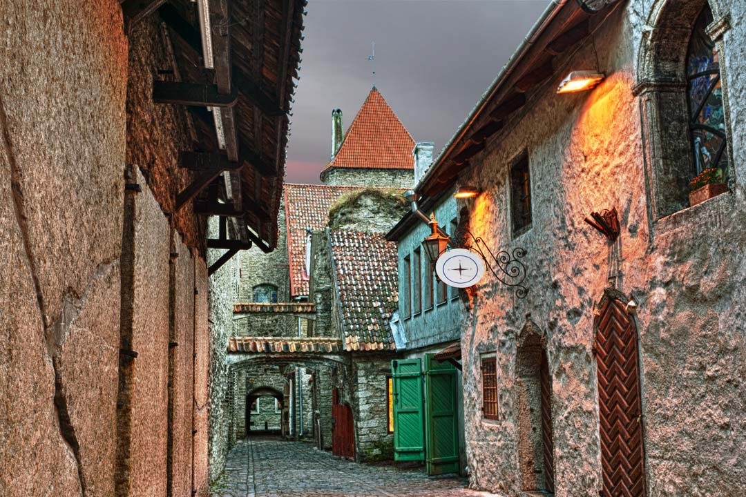 old rustic streets lined by traditional houses in a medieval town