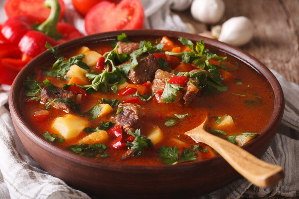 The traditional Hungarian goulash - a true local favourite