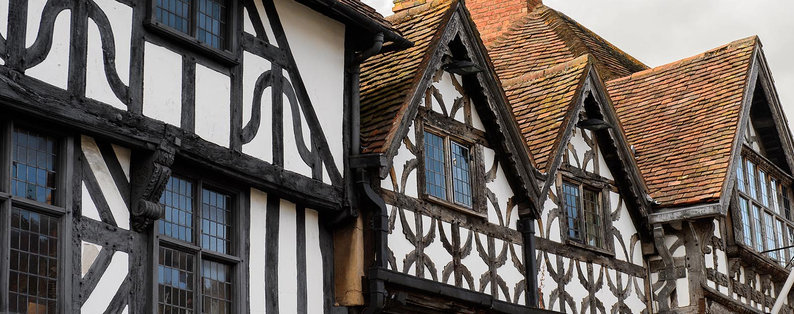 Medieval timber-framed houses in Church Street, Stratford-upon-Avon