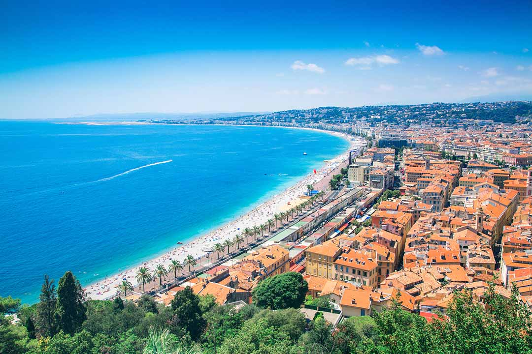 Beautiful Cote d'Azur in France and Nice
